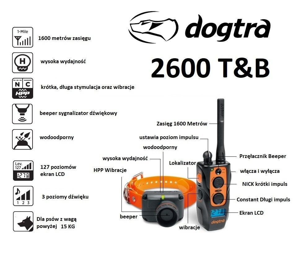 obroża dogtra 2600 t&b beeper